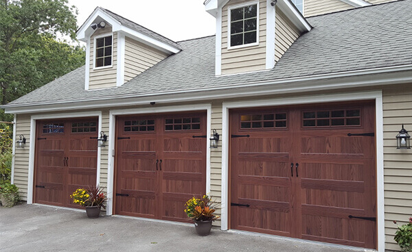 KBI Garage Door Service - Woodgrain CHI Accent Woodtone Garage Door